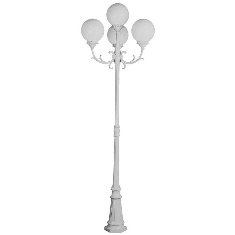 Café Post Lamp 8′ White
