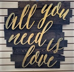 All You Need Is Love Sign — Pheonix, AZ — Party People Rentals & Sales